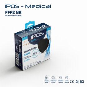 Μάσκες FFP2 - 5 στρώσεων KN95 με έλασμα στη μύτη IPOS-FFP2 - Μαύρες 10 τεμάχια